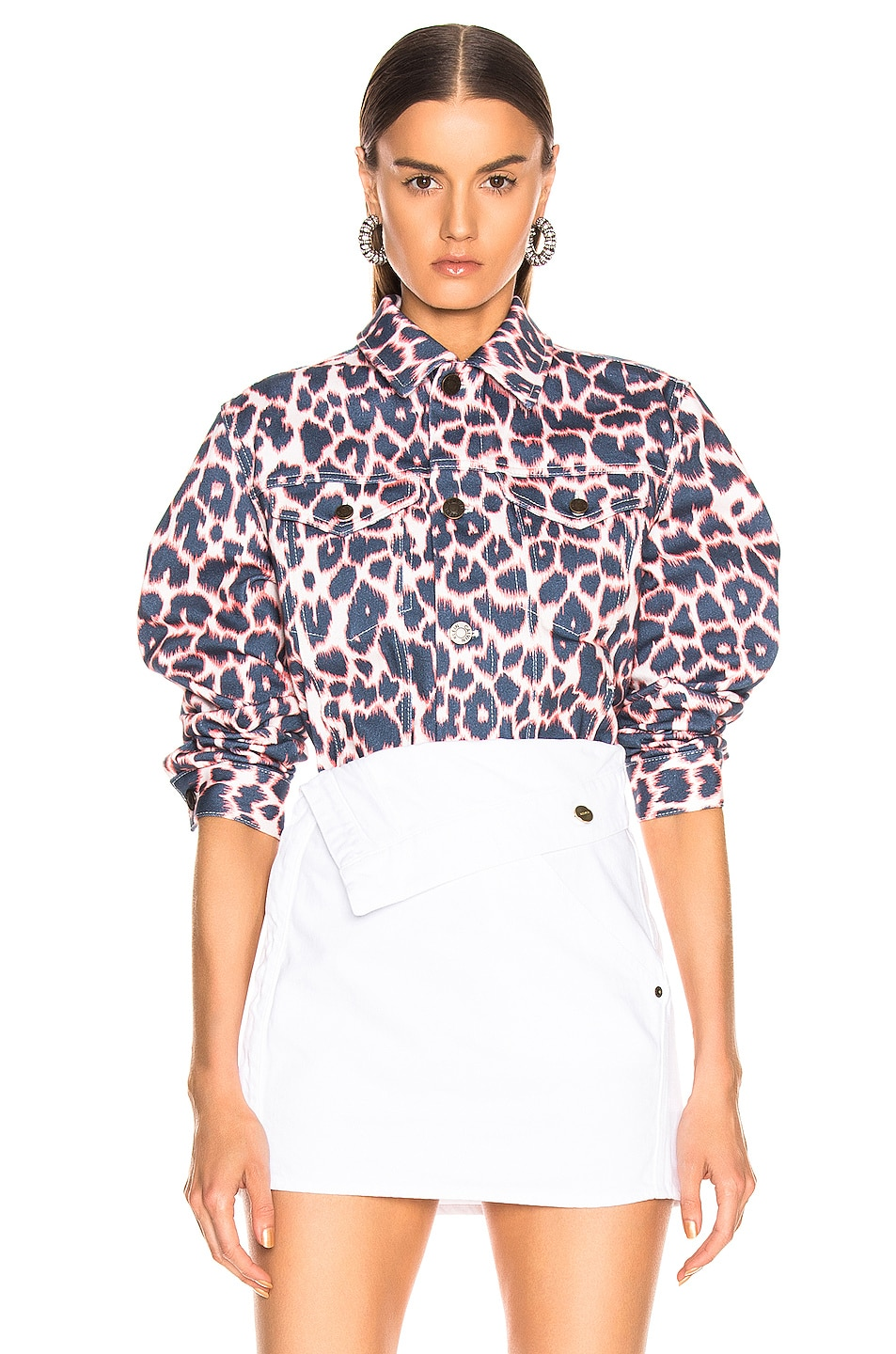 Image 1 of CALVIN KLEIN 205W39NYC Leopard Jacket in Electric Panthere