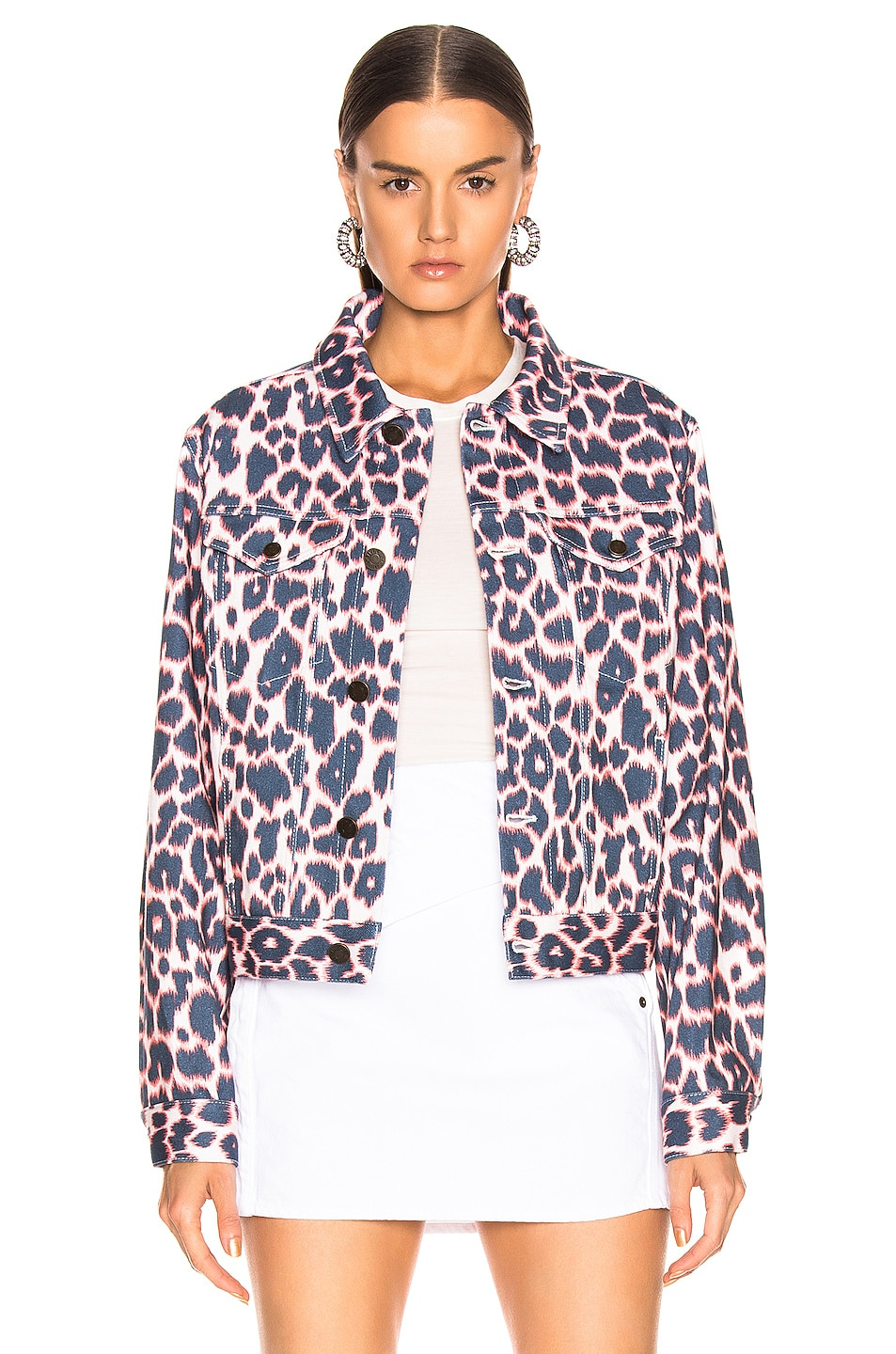 Image 2 of CALVIN KLEIN 205W39NYC Leopard Jacket in Electric Panthere
