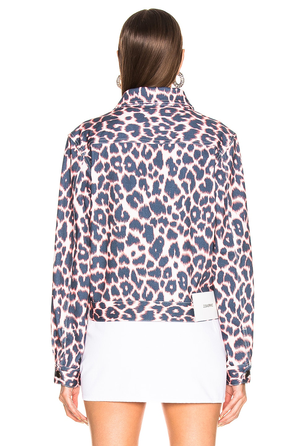 Image 4 of CALVIN KLEIN 205W39NYC Leopard Jacket in Electric Panthere