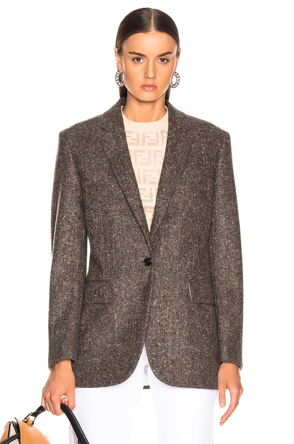 Image 1 of CALVIN KLEIN 205W39NYC Tailored Blazer in Sepia Grey Black