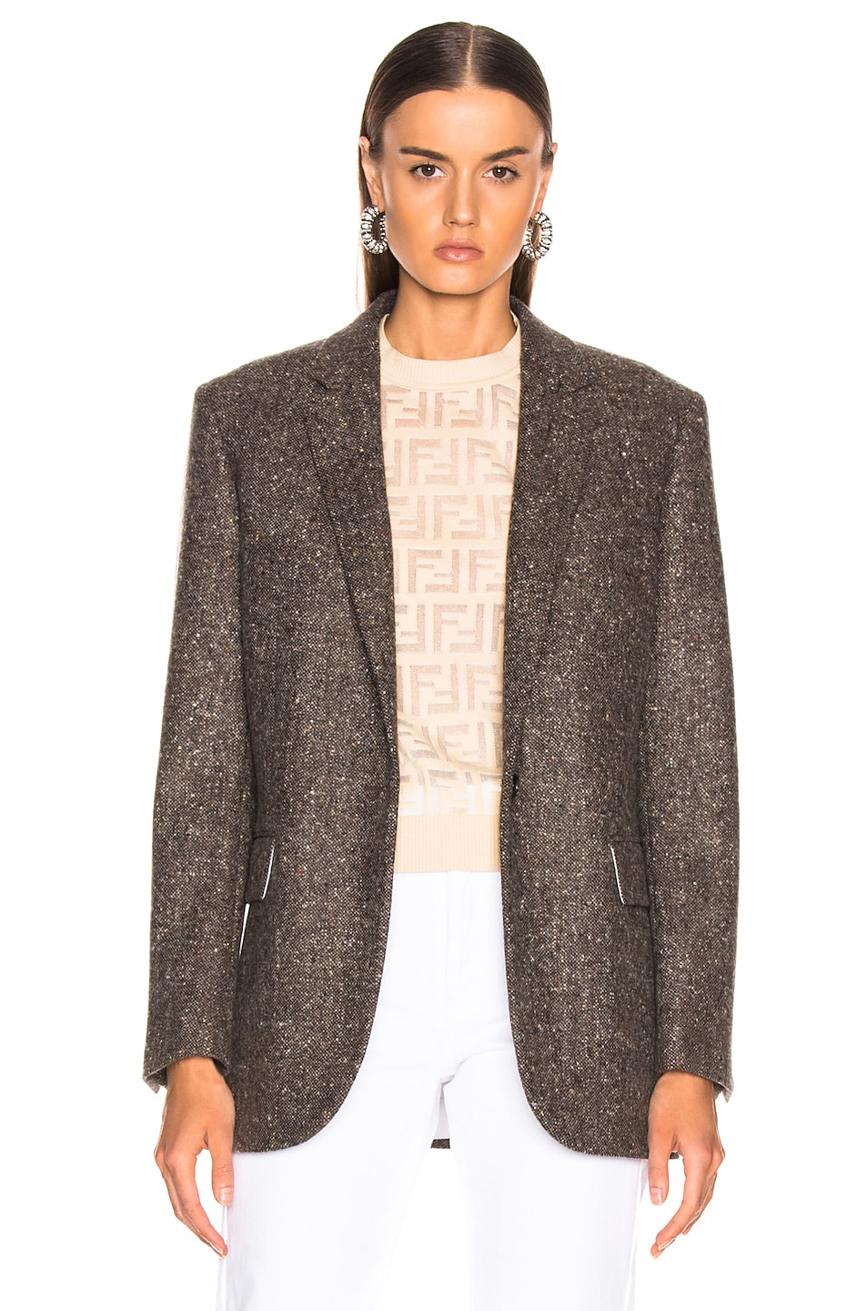 Image 2 of CALVIN KLEIN 205W39NYC Tailored Blazer in Sepia Grey Black