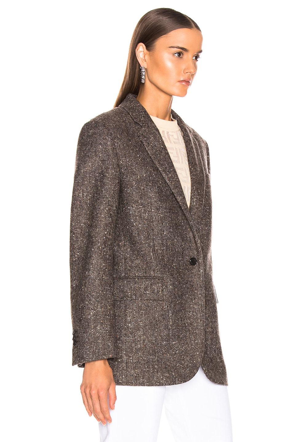 Image 3 of CALVIN KLEIN 205W39NYC Tailored Blazer in Sepia Grey Black