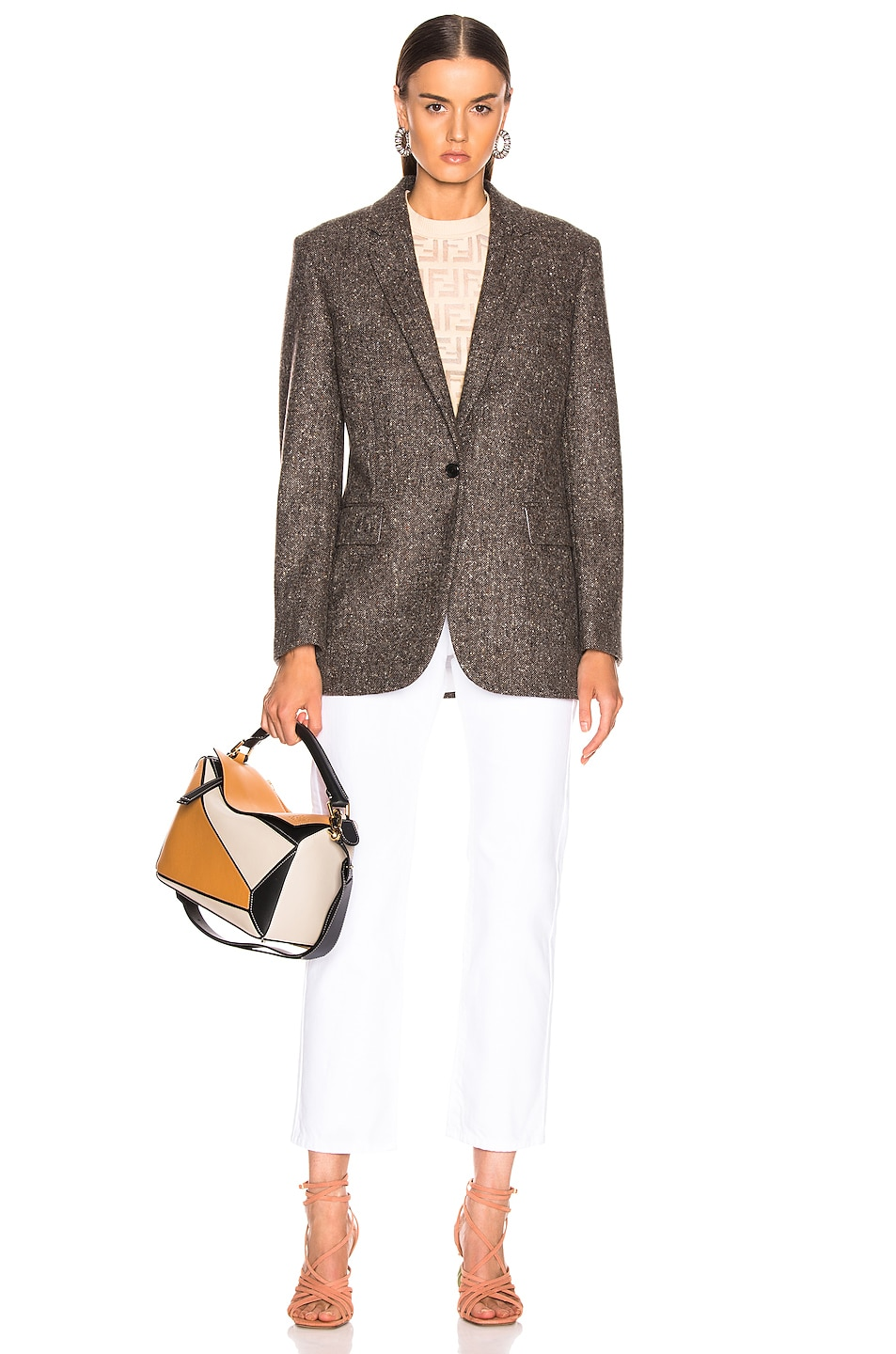 Image 5 of CALVIN KLEIN 205W39NYC Tailored Blazer in Sepia Grey Black