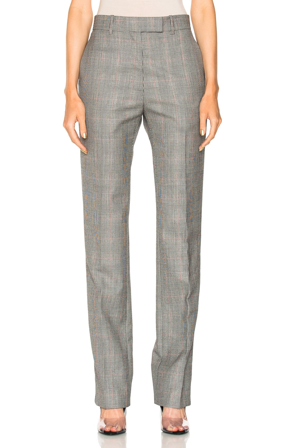Fresh CALVIN KLEIN 205W39NYC Glen Plaid Fine Worsted Wool Trousers in  AE22