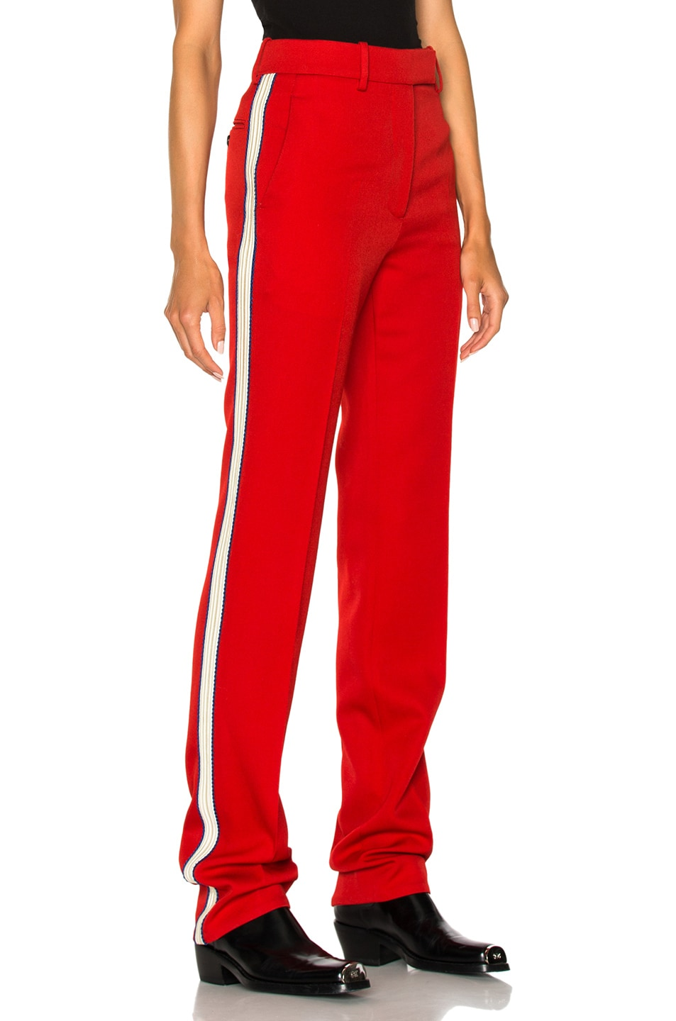 Well-liked CALVIN KLEIN 205W39NYC Wool Twill Trousers in Crimson | FWRD SP56