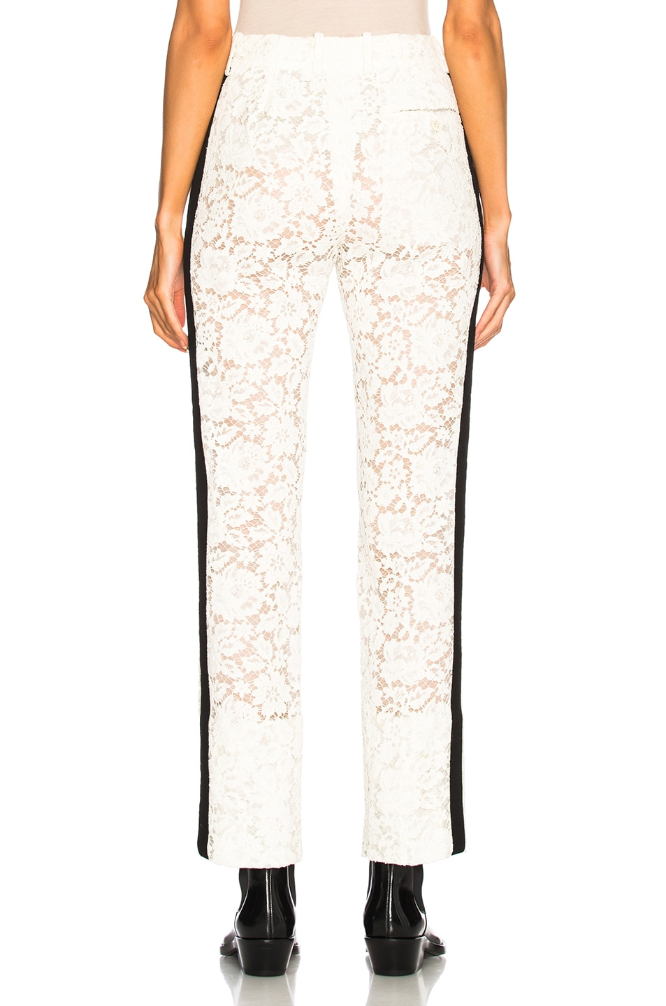 Image 3 of CALVIN KLEIN 205W39NYC Cotton Viscose Lace Trousers in Ivory