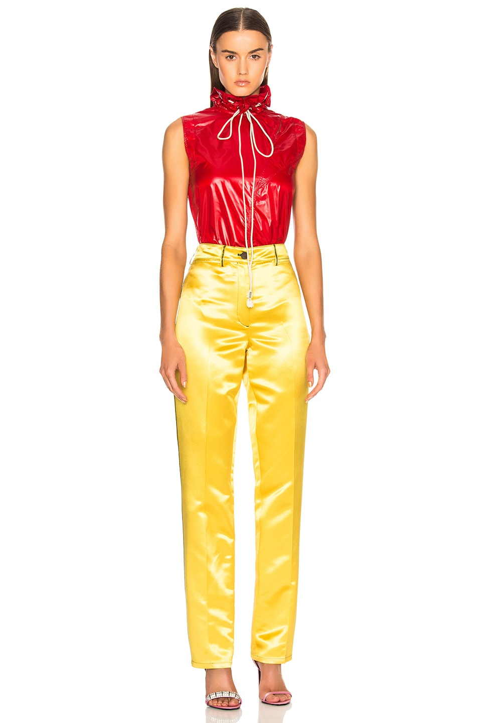 Image 4 of CALVIN KLEIN 205W39NYC High Waisted Trousers in Yellow