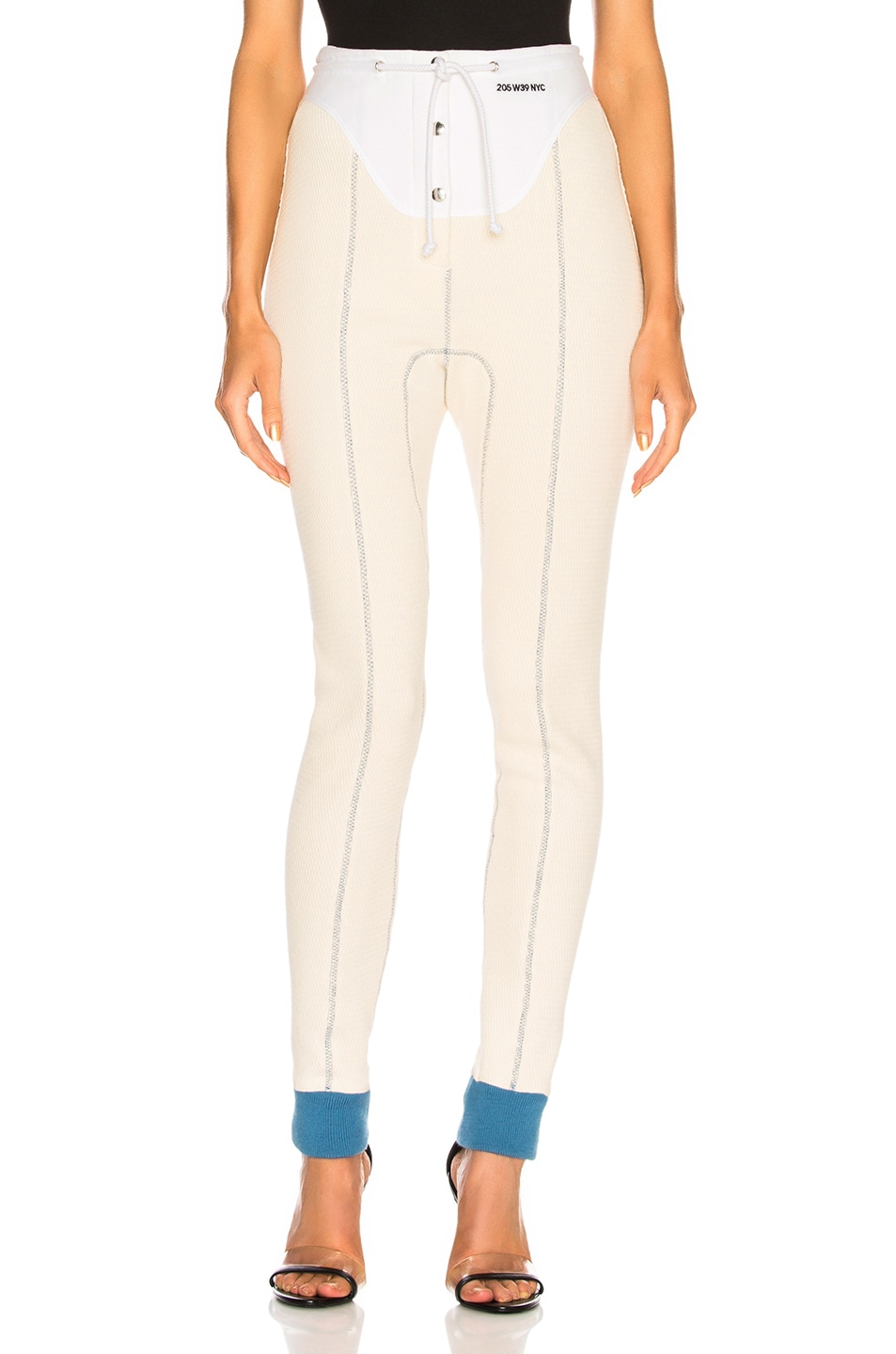 Image 1 of CALVIN KLEIN 205W39NYC High Waisted Leggings in Ecru & Optic White