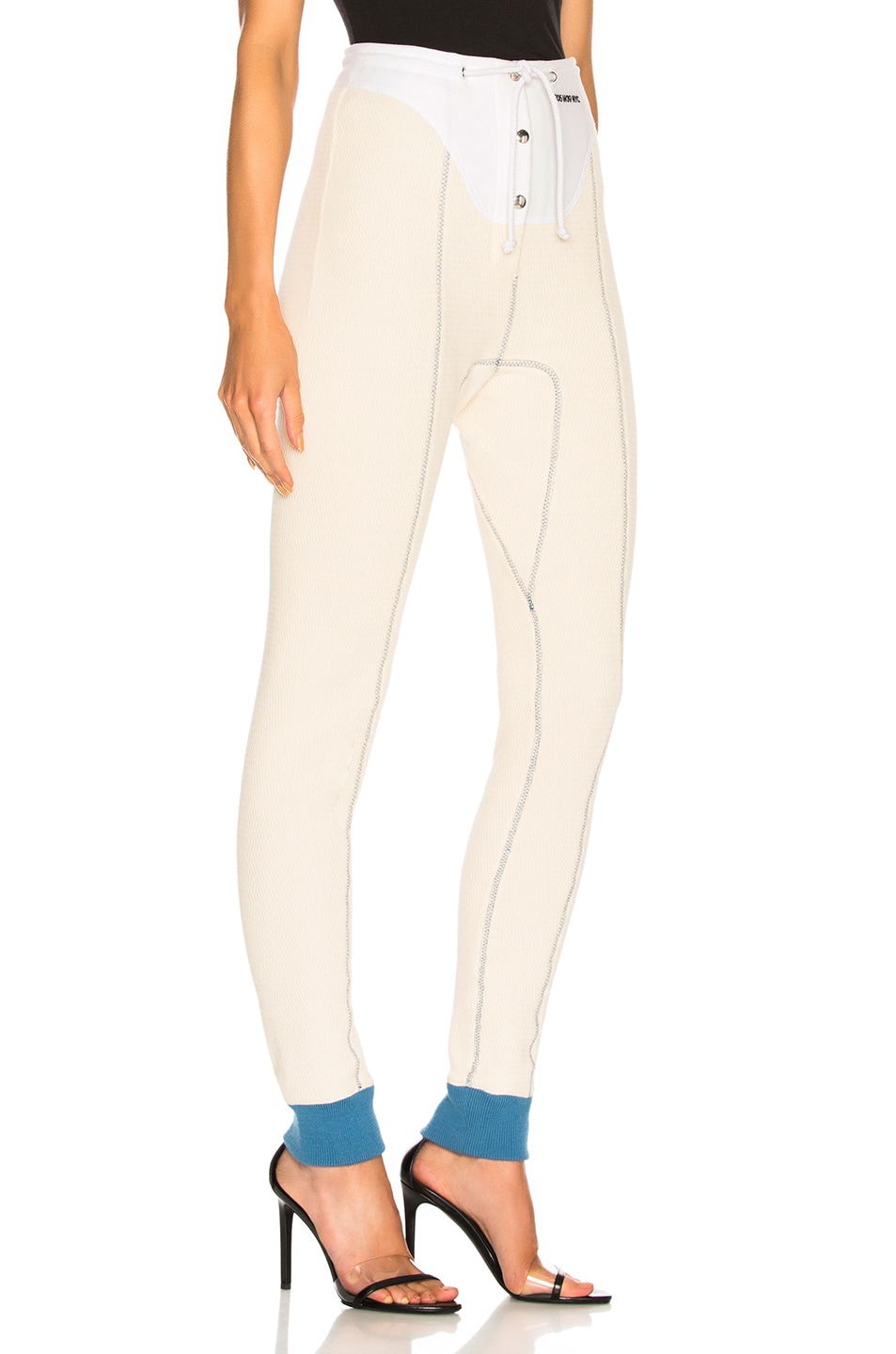 Image 2 of CALVIN KLEIN 205W39NYC High Waisted Leggings in Ecru & Optic White