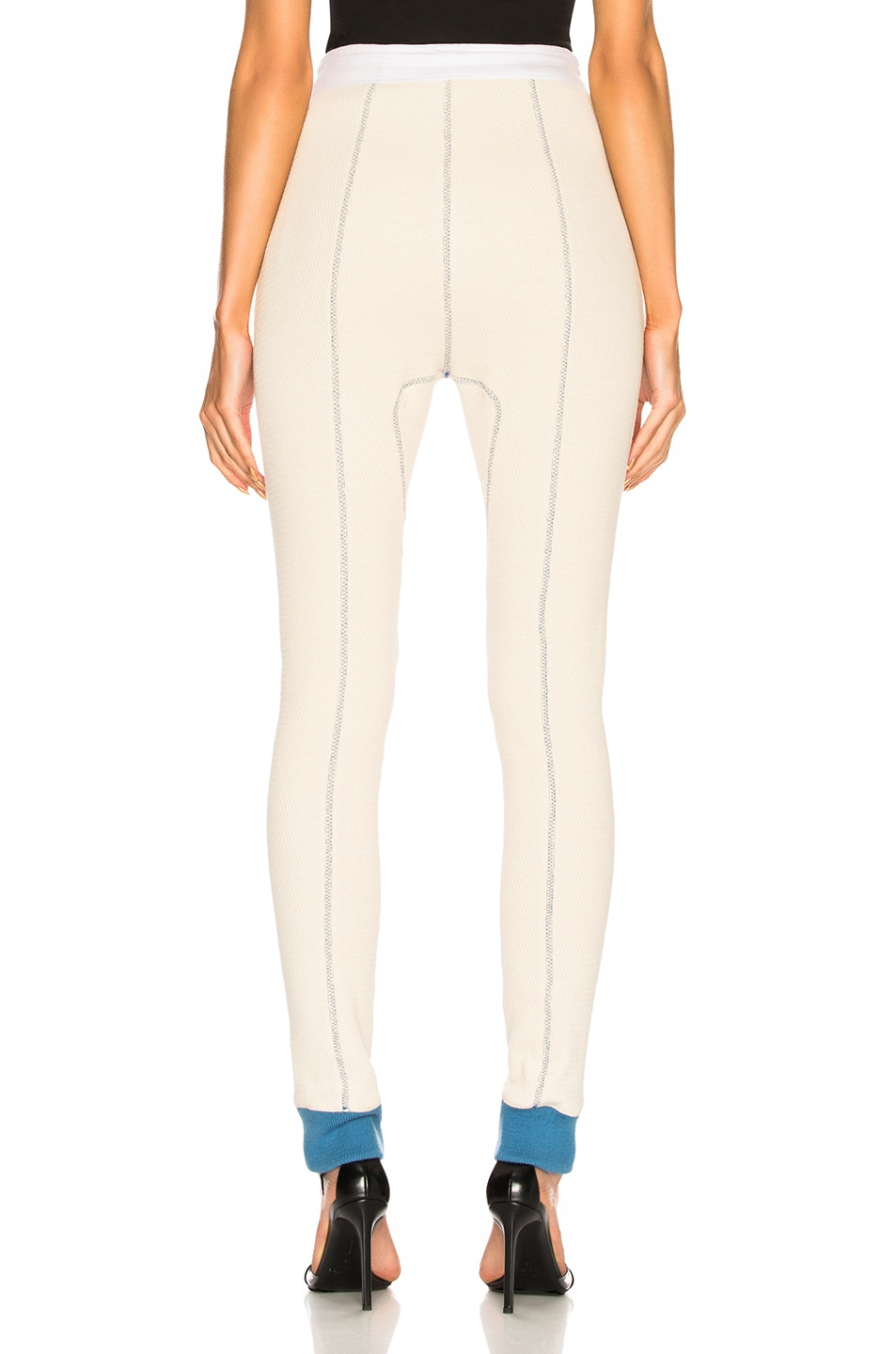 Image 3 of CALVIN KLEIN 205W39NYC High Waisted Leggings in Ecru & Optic White