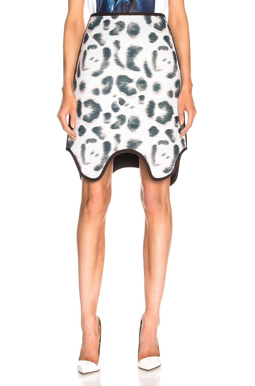 Image 1 of CALVIN KLEIN 205W39NYC Leopard Skirt in Faded Leopard Black