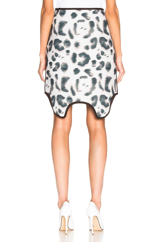 Image 3 of CALVIN KLEIN 205W39NYC Leopard Skirt in Faded Leopard Black