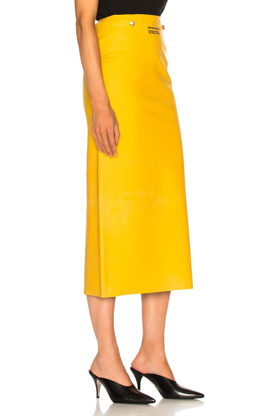 Image 2 of CALVIN KLEIN 205W39NYC Midi Skirt in Pastel Yellow