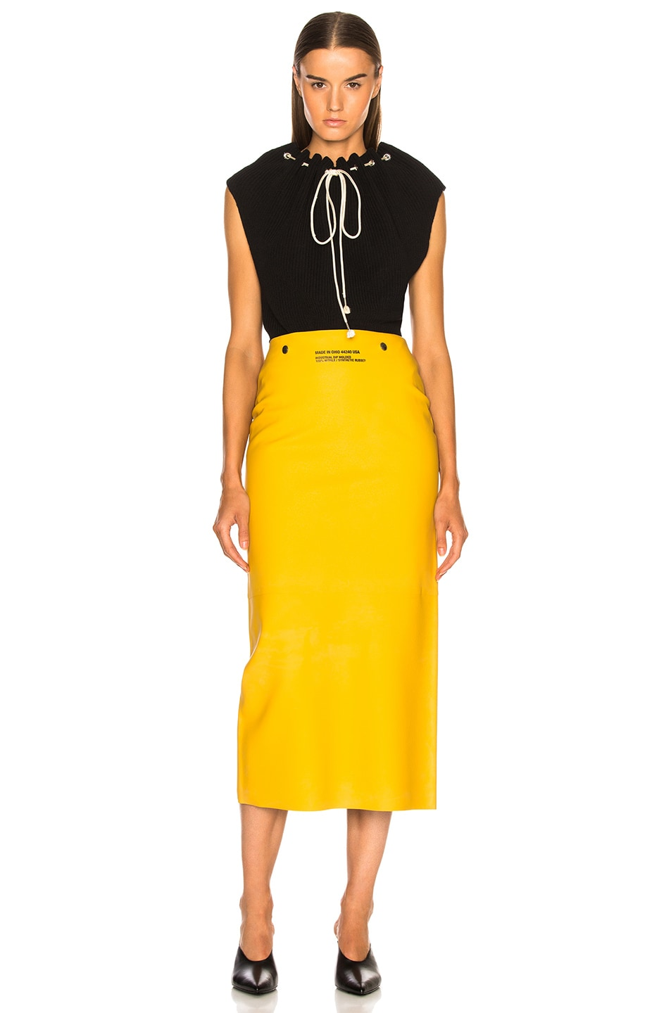 Image 4 of CALVIN KLEIN 205W39NYC Midi Skirt in Pastel Yellow