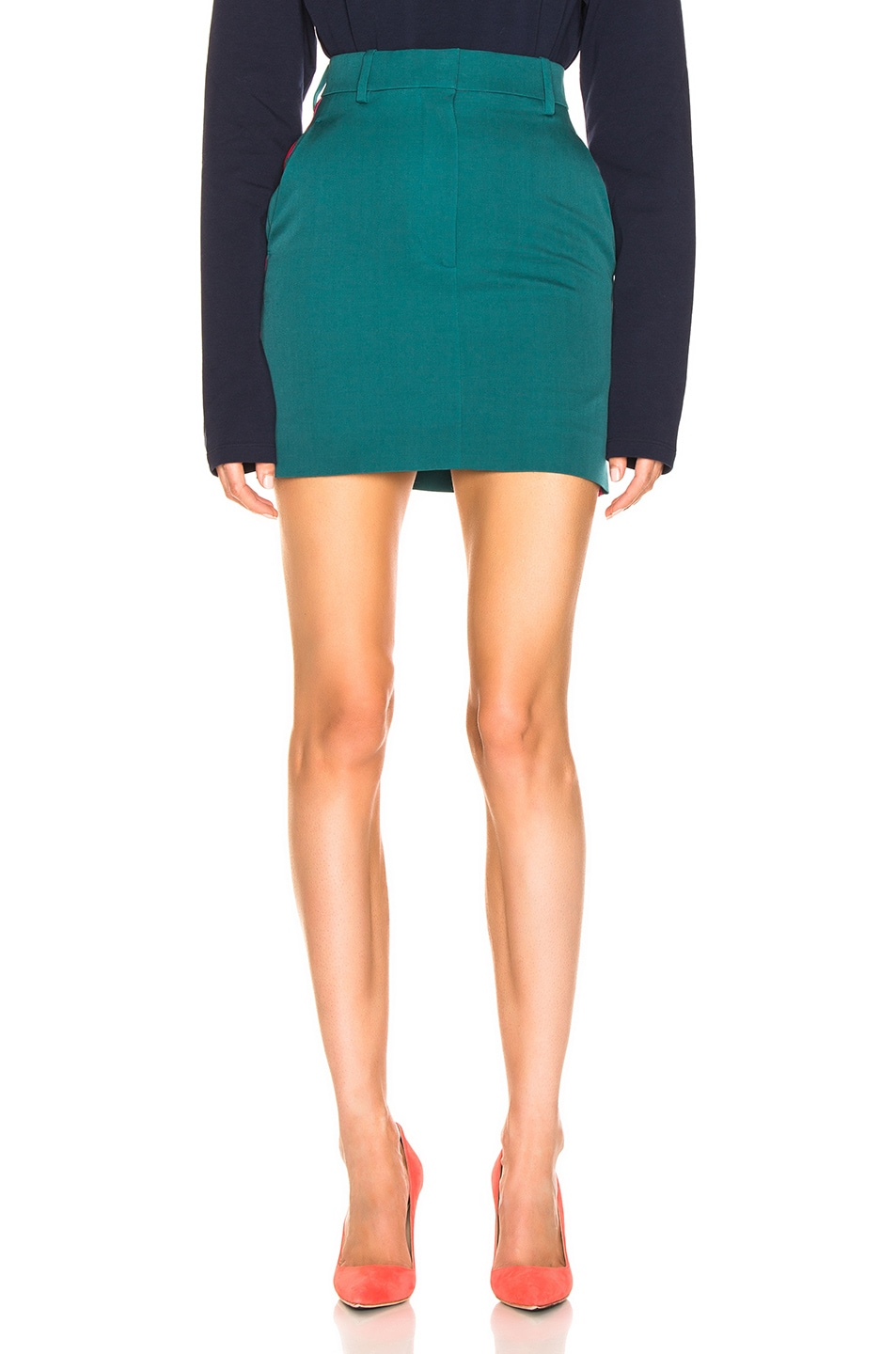 Image 2 of CALVIN KLEIN 205W39NYC Stripe Skirt in Mangrove