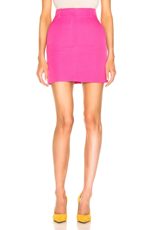 Image 2 of CALVIN KLEIN 205W39NYC Stripe Skirt in Petunia