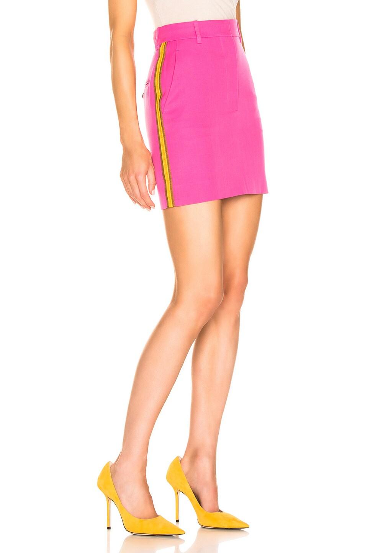 Image 3 of CALVIN KLEIN 205W39NYC Stripe Skirt in Petunia