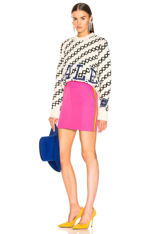 Image 5 of CALVIN KLEIN 205W39NYC Stripe Skirt in Petunia
