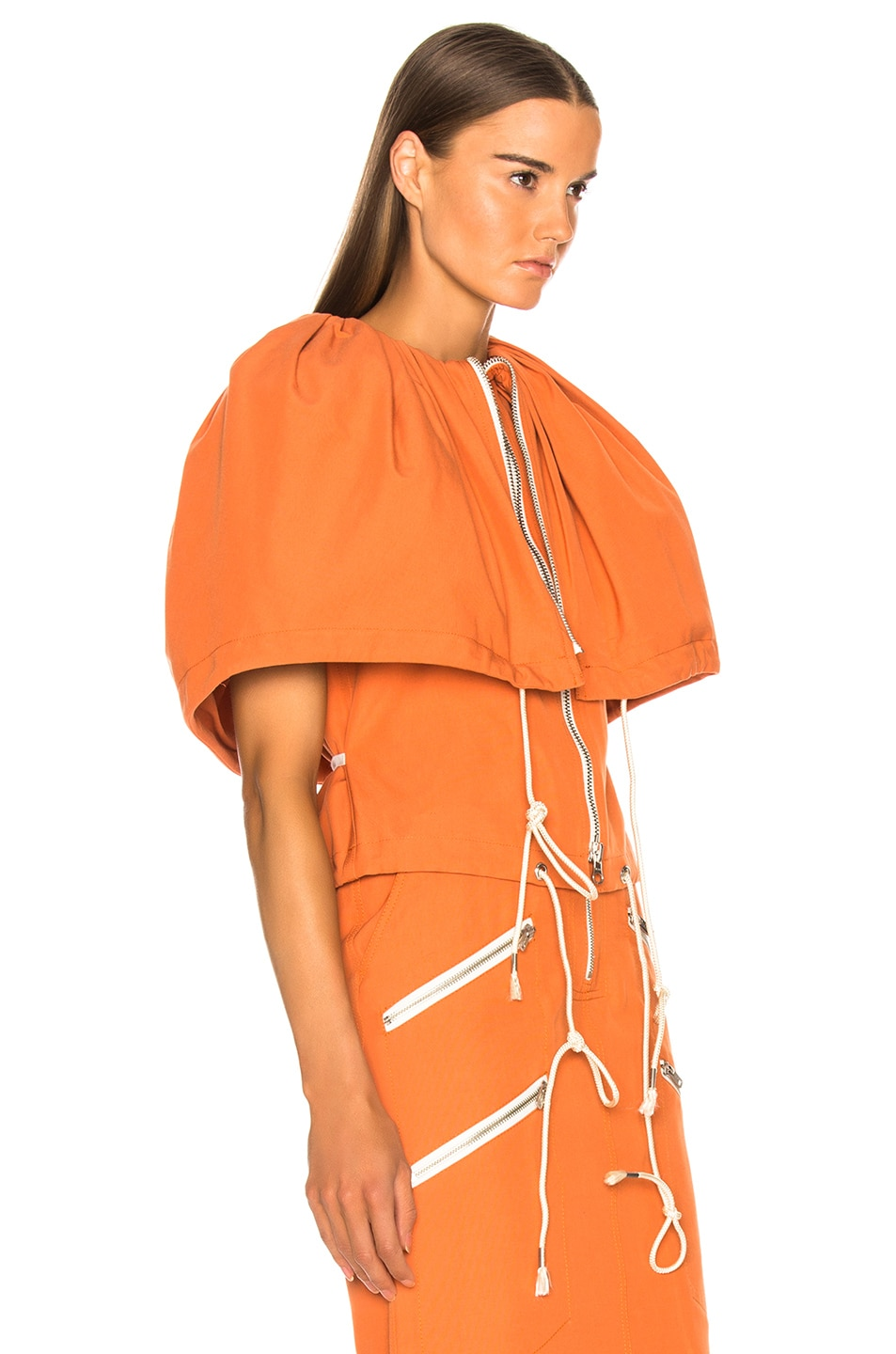 Image 2 of CALVIN KLEIN 205W39NYC Zip Front Top in Bright Rust