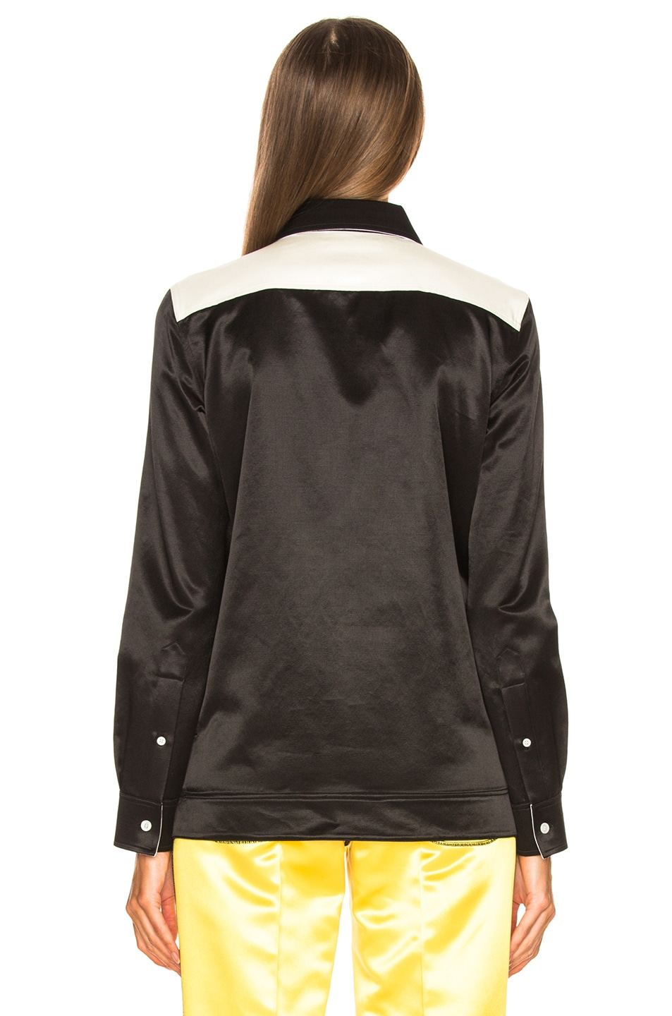 Image 3 of CALVIN KLEIN 205W39NYC Colorblocked Shirt in Black