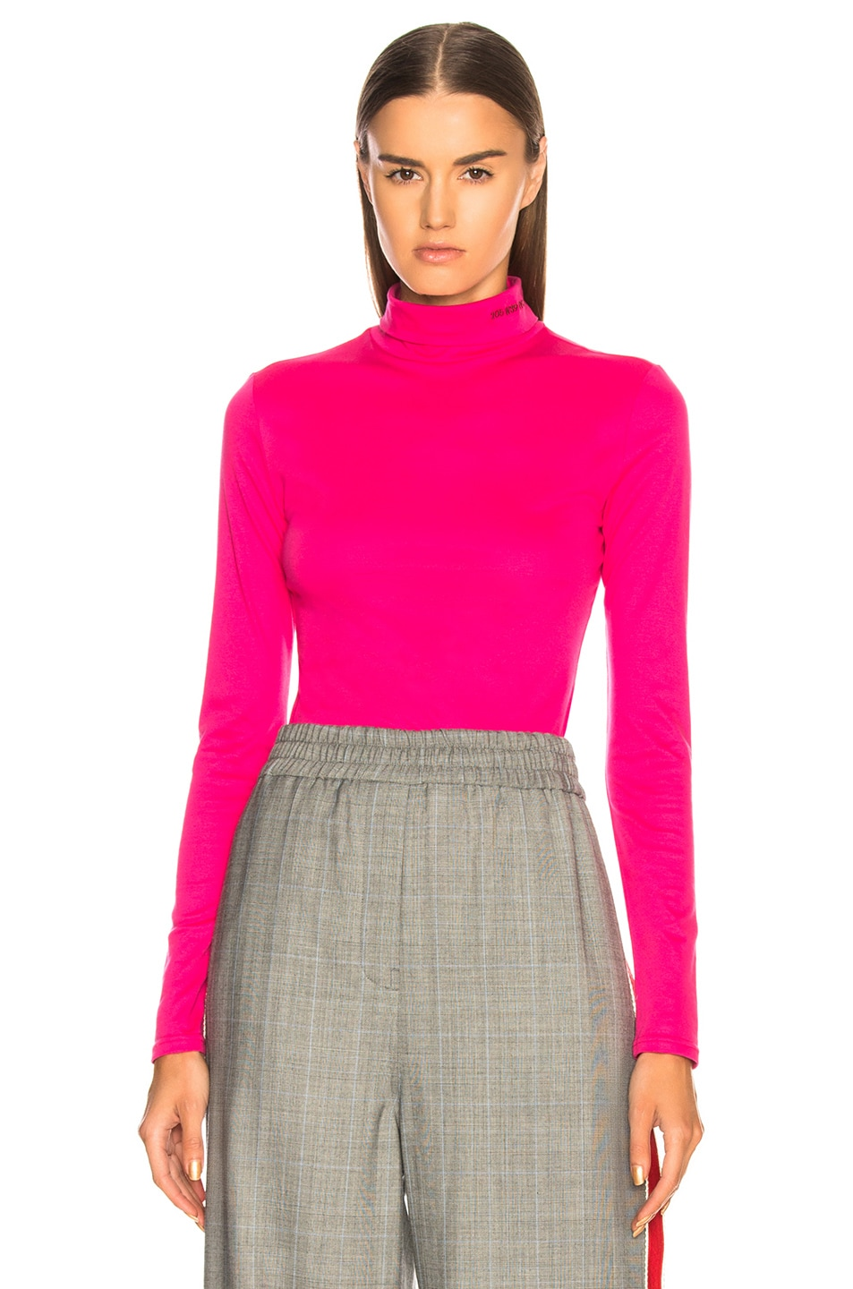 Image 1 of CALVIN KLEIN 205W39NYC Turtleneck in Begonia