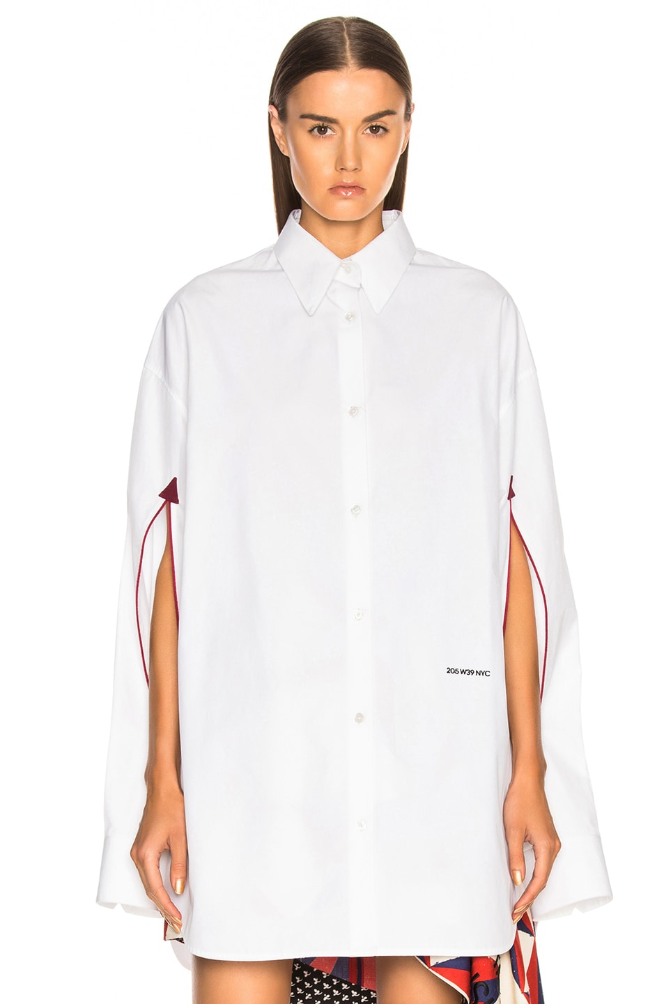 Image 2 of CALVIN KLEIN 205W39NYC Cape Sleeve Shirt in Optic White