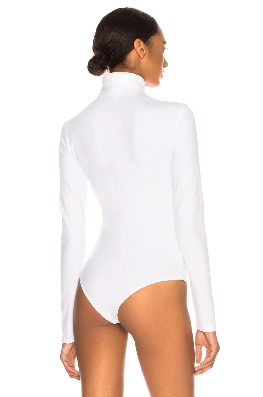 Image 5 of CALVIN KLEIN 205W39NYC Turtleneck Bodysuit in Optic White