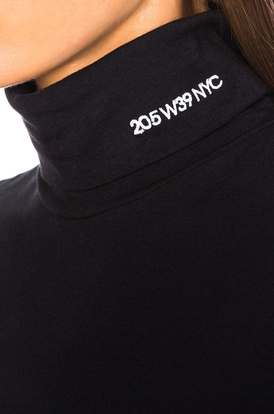 Image 7 of CALVIN KLEIN 205W39NYC Stretch Cotton Jersey Turtleneck in Black