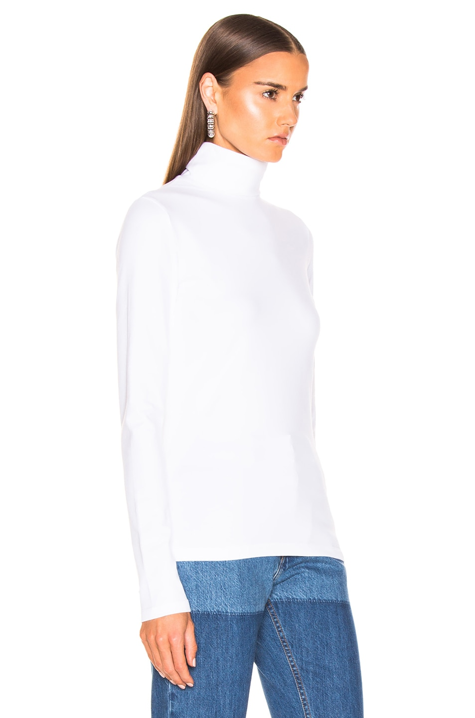 Image 2 of CALVIN KLEIN 205W39NYC Turtleneck Top in Optic White