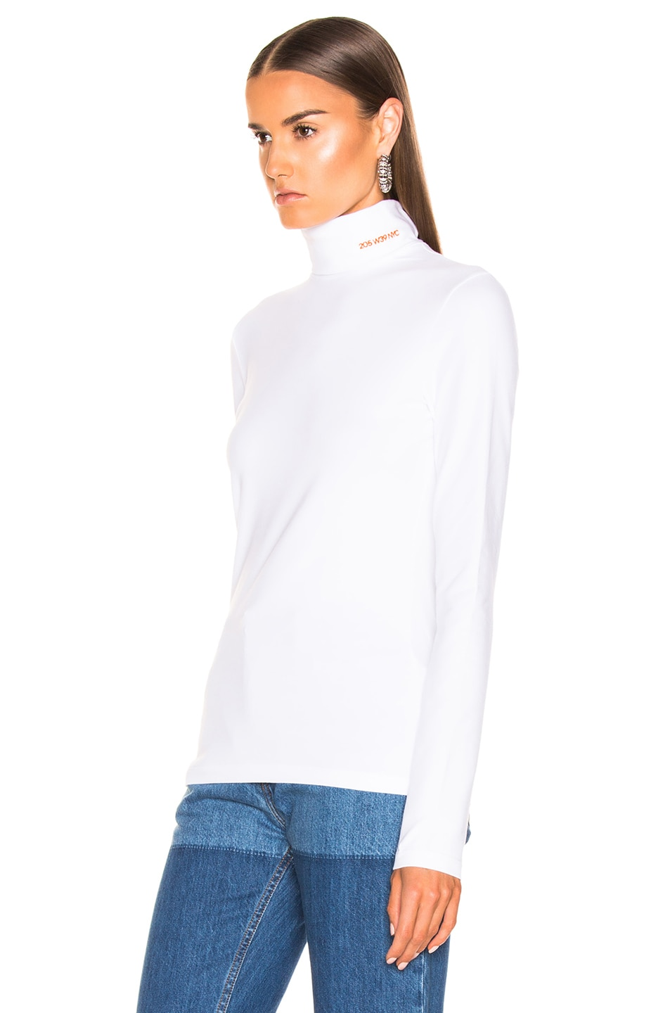 Image 3 of CALVIN KLEIN 205W39NYC Turtleneck Top in Optic White