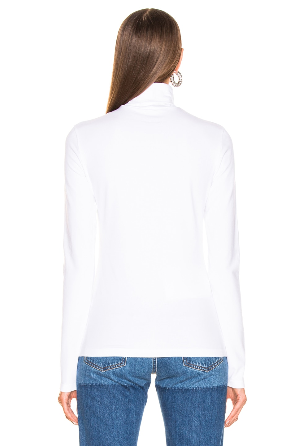 Image 4 of CALVIN KLEIN 205W39NYC Turtleneck Top in Optic White