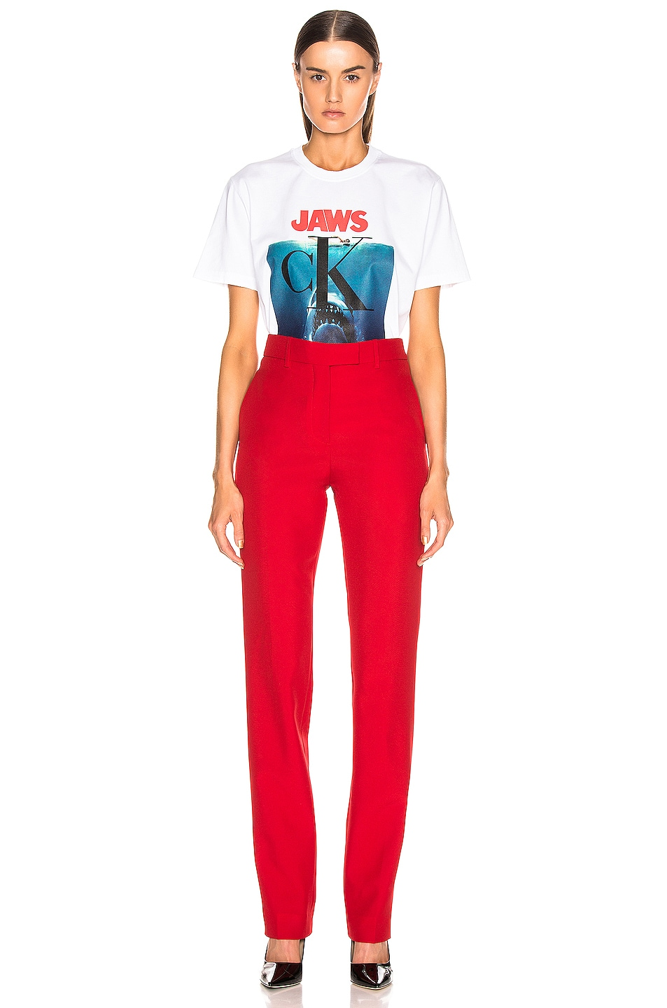 Image 4 of CALVIN KLEIN 205W39NYC Jaws Tee Shirt in Optic White