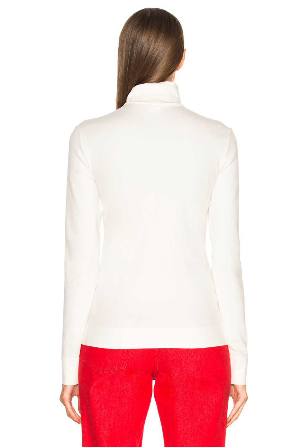 Image 3 of CALVIN KLEIN 205W39NYC Cotton Jersey Turtleneck in White