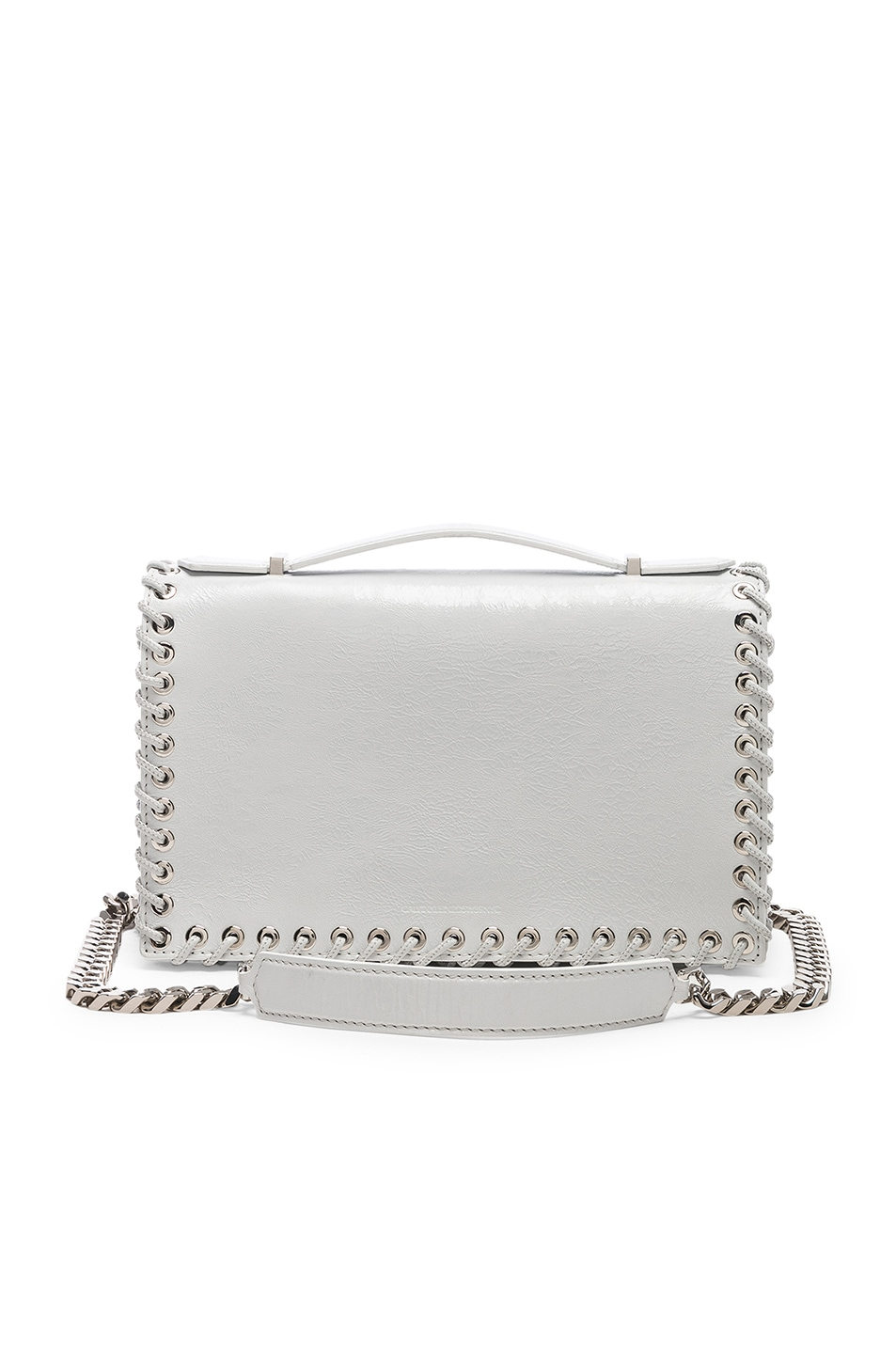 Image 1 of CALVIN KLEIN 205W39NYC Whipstitch Shoulder Bag in White