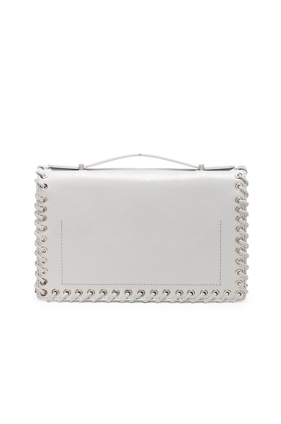 Image 3 of CALVIN KLEIN 205W39NYC Whipstitch Shoulder Bag in White