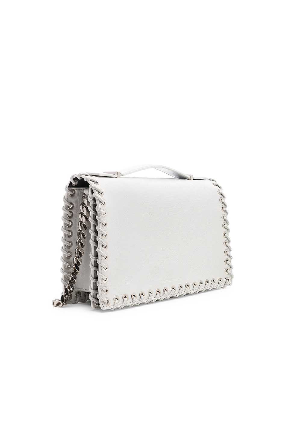Image 4 of CALVIN KLEIN 205W39NYC Whipstitch Shoulder Bag in White