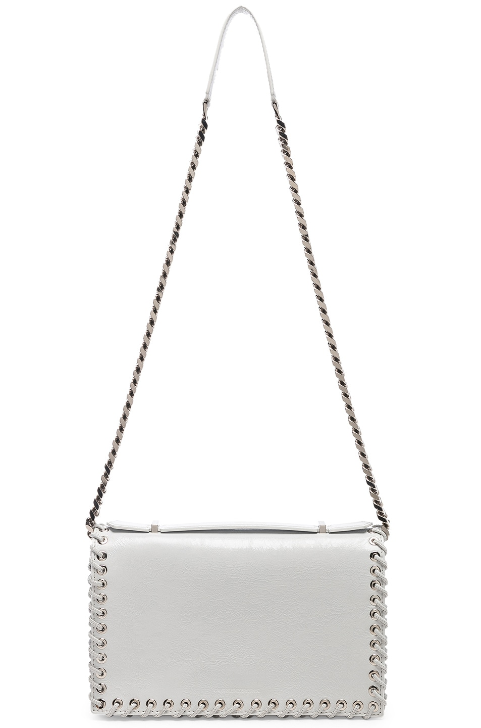 Image 6 of CALVIN KLEIN 205W39NYC Whipstitch Shoulder Bag in White