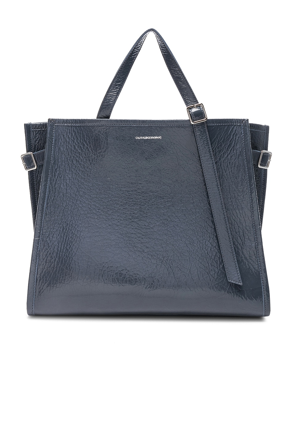 Image 1 of CALVIN KLEIN 205W39NYC East West Side Strap Tote in Blue Grey