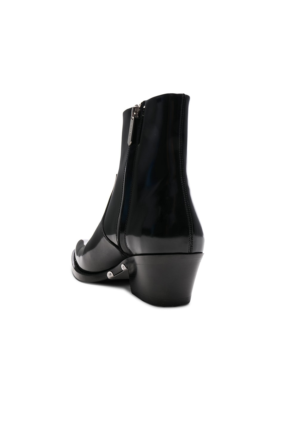 Image 3 of CALVIN KLEIN 205W39NYC Leather Short Western Boots in Black