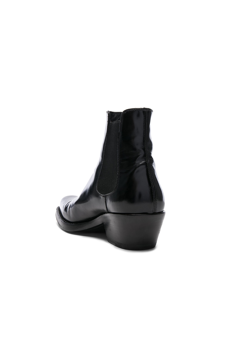 Image 3 of CALVIN KLEIN 205W39NYC Claire Leather Western Ankle Boots in Black
