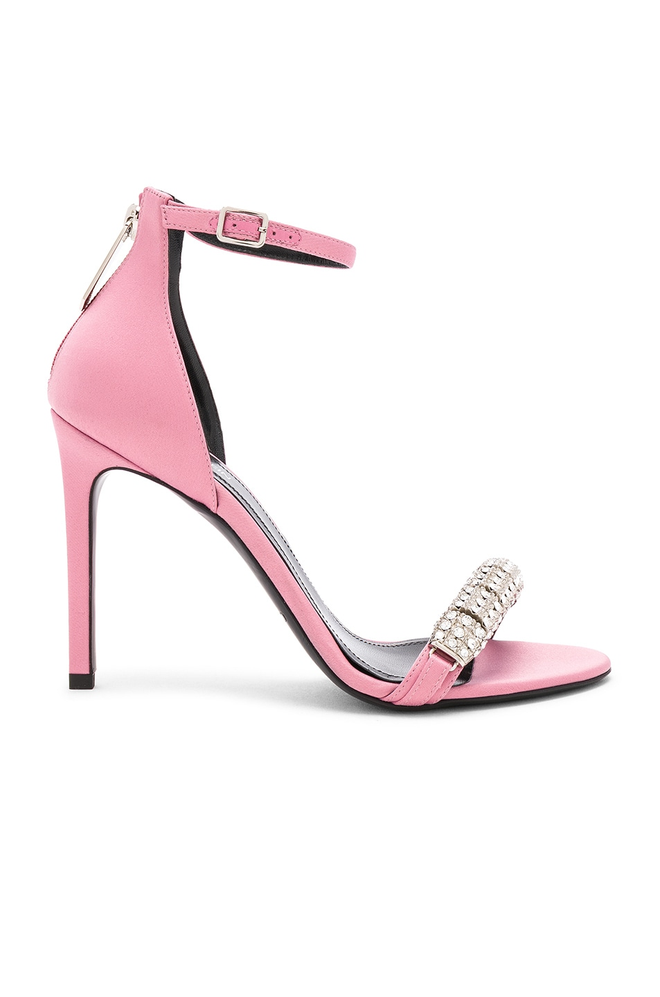 Image 2 of CALVIN KLEIN 205W39NYC Satin Camelle 501 Sandals in Rose