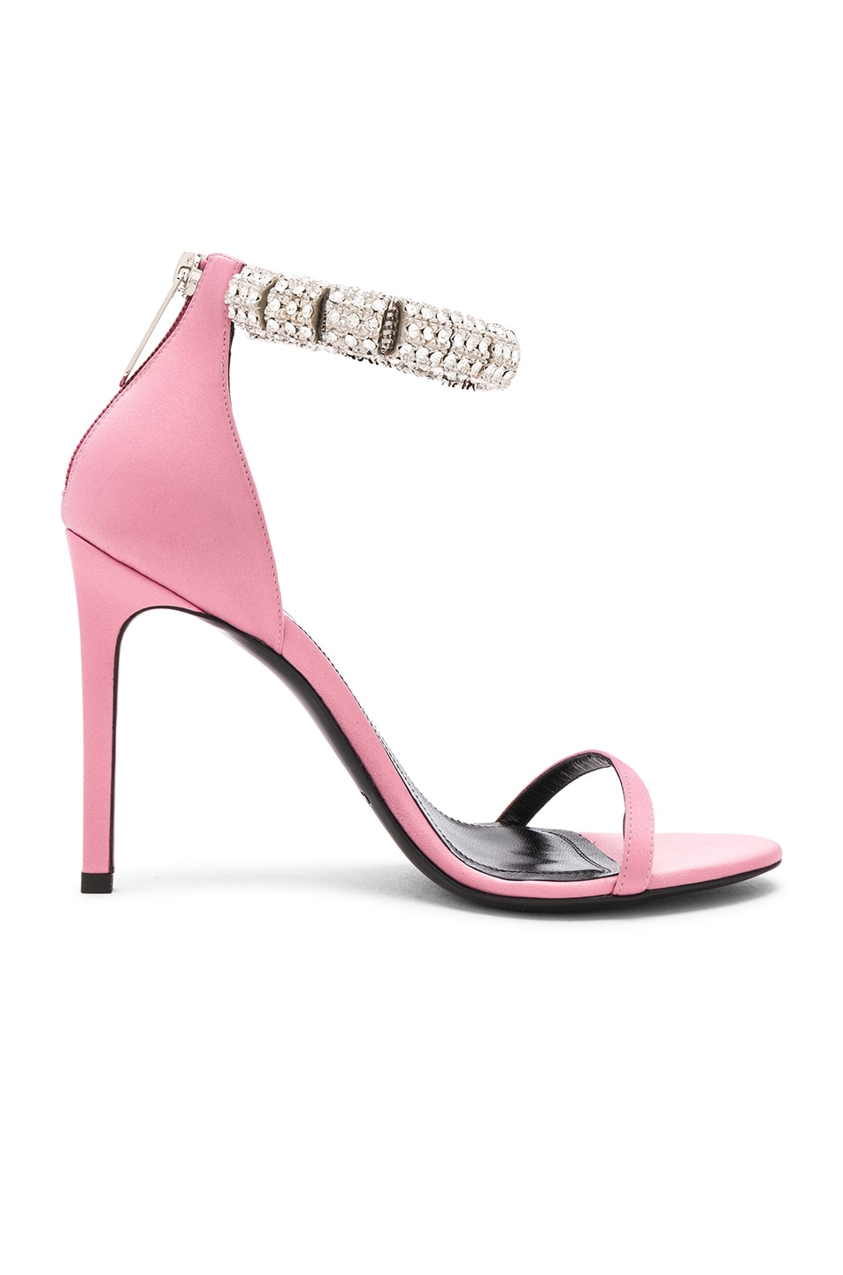 Image 6 of CALVIN KLEIN 205W39NYC Satin Camelle 501 Sandals in Rose