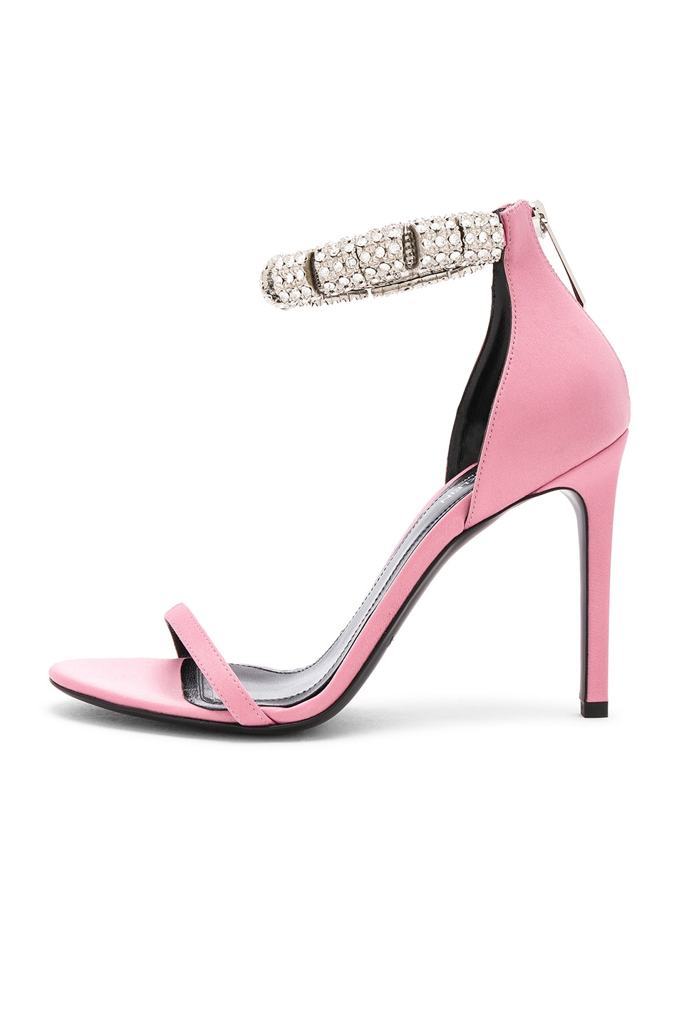 Image 7 of CALVIN KLEIN 205W39NYC Satin Camelle 501 Sandals in Rose