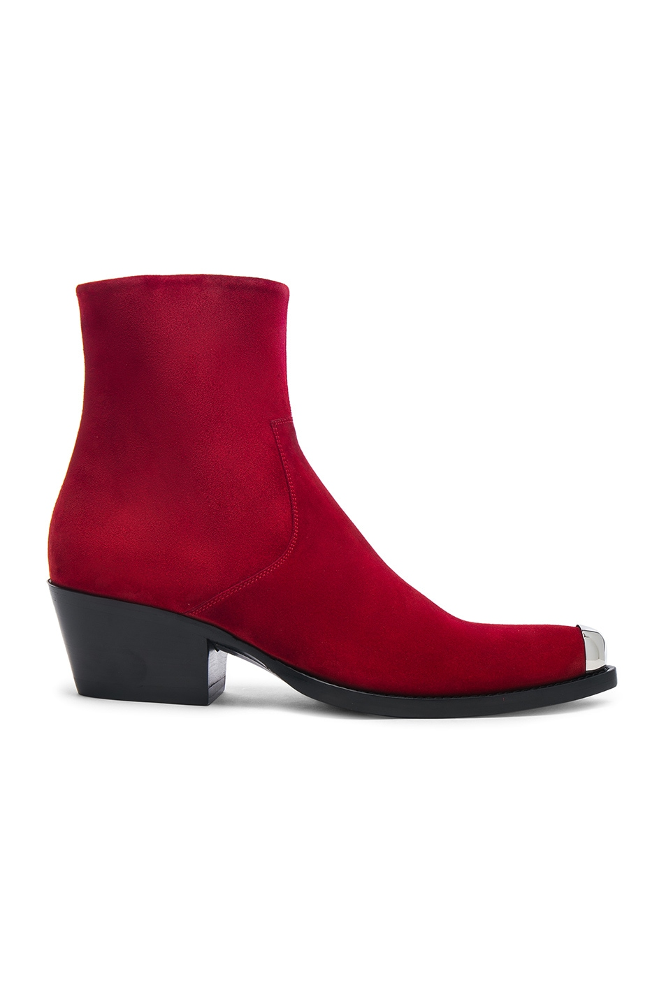 Calvin Klein Suede Tex Chiara Ankle Boots in . gsJrp