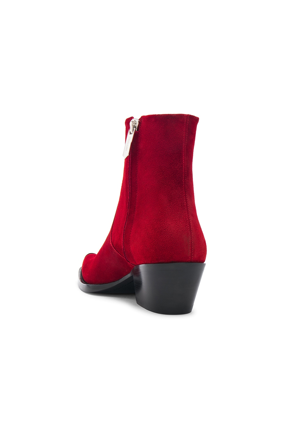 Image 3 of CALVIN KLEIN 205W39NYC Suede Tex Chiara Ankle Boots in Red