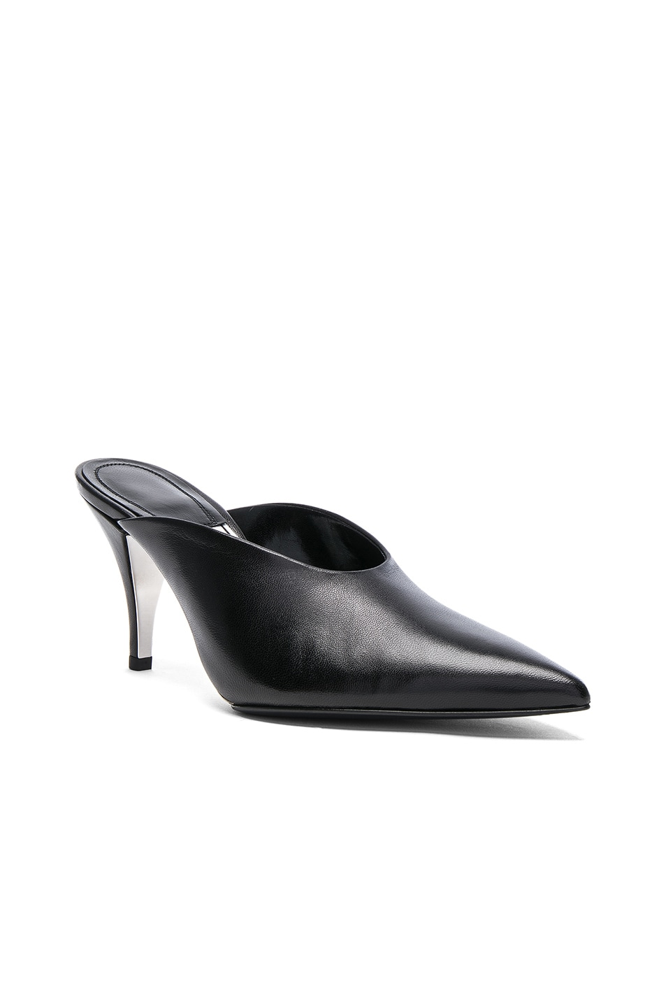 Image 2 of CALVIN KLEIN 205W39NYC Leather Roslynn Heels in Black
