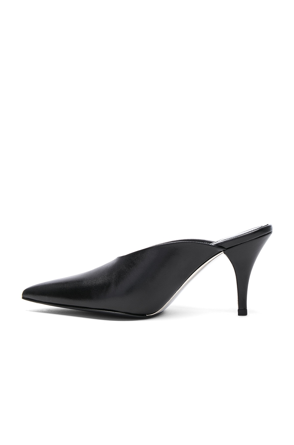 Image 5 of CALVIN KLEIN 205W39NYC Leather Roslynn Heels in Black