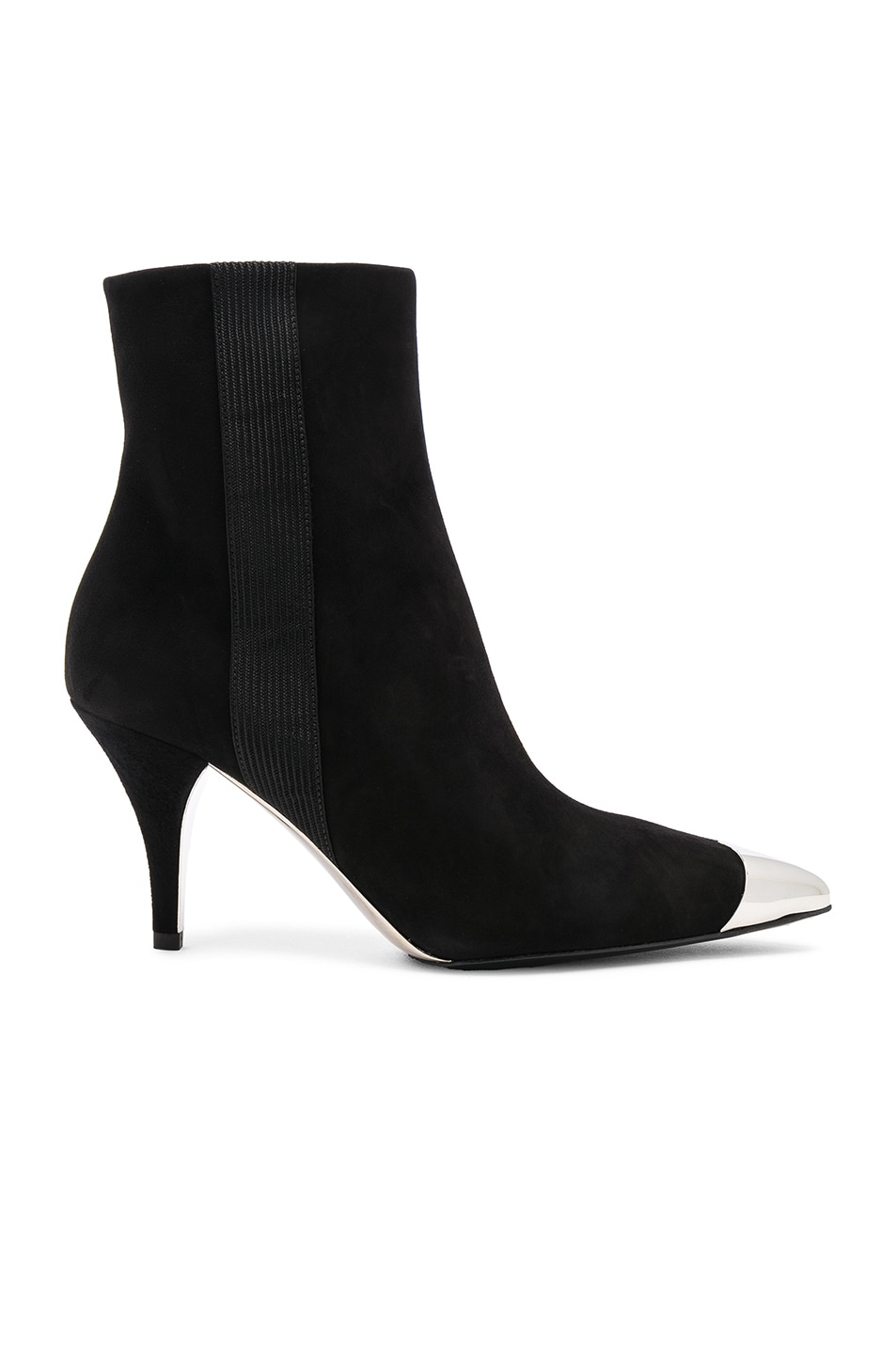 Image 1 of CALVIN KLEIN 205W39NYC Suede Rocio Stiletto Boots in Black
