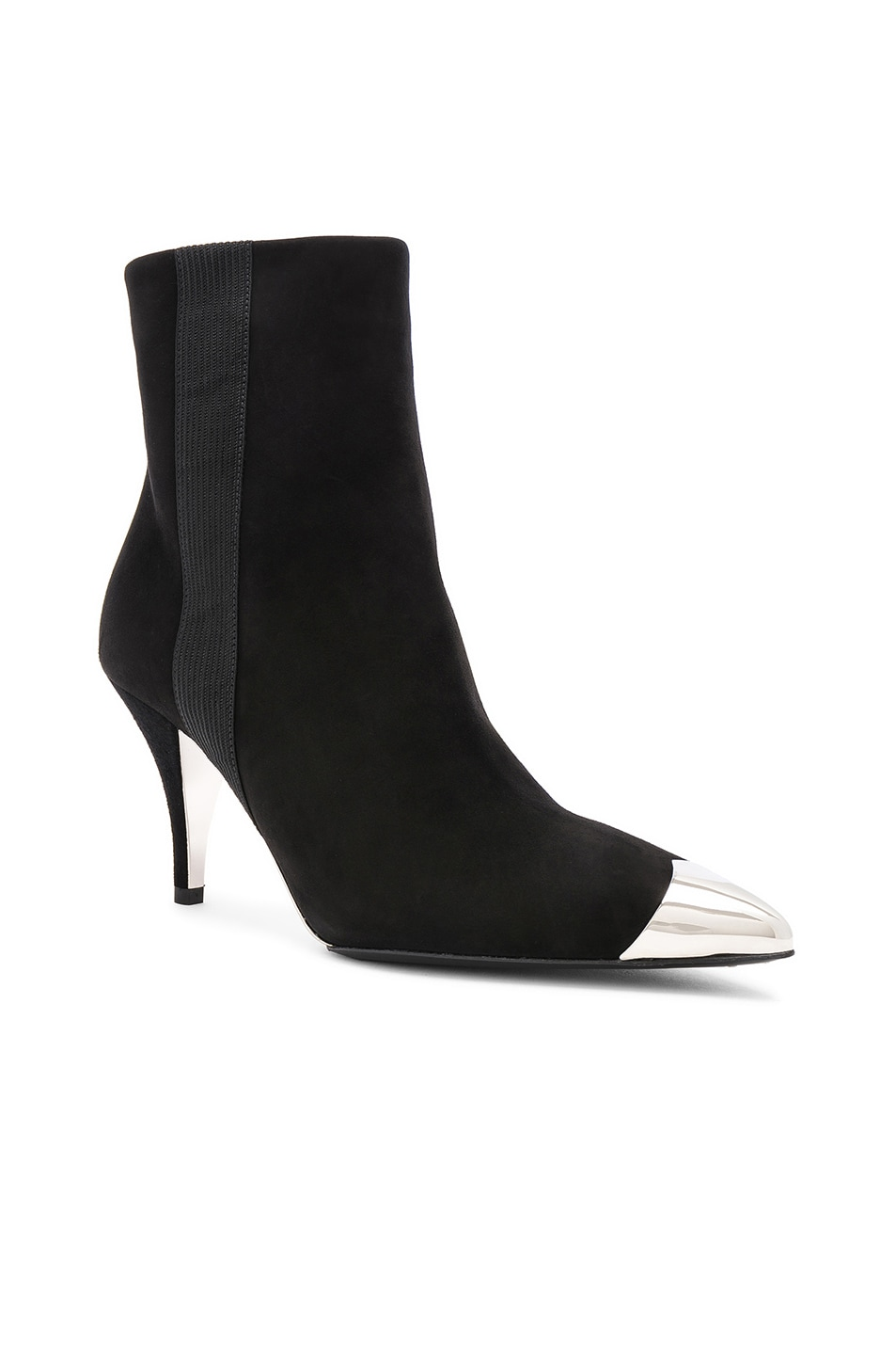 Image 2 of CALVIN KLEIN 205W39NYC Suede Rocio Stiletto Boots in Black