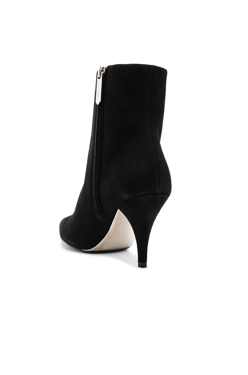 Image 3 of CALVIN KLEIN 205W39NYC Suede Rocio Stiletto Boots in Black
